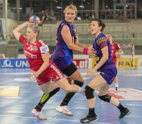 Julia Feierle erzielte bei ihrem Comeback im ÖHB-Frauenteam drei Tore.EXPA