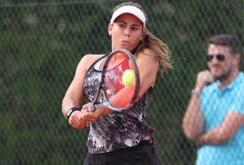 Julia Grabher blieb in St. Pölten bereits in drei Partien ohne Satzverlust.GEPA