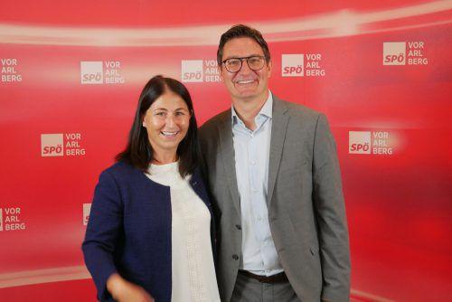 Katharina Müller und Reinhold Einwallner: Speerspitze der Vorarlberger SP. VN