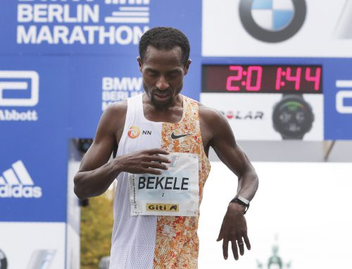 Kenenisa Bekele hat den Marathon-Weltrekord um nur zwei Sekunden verpasst.AP