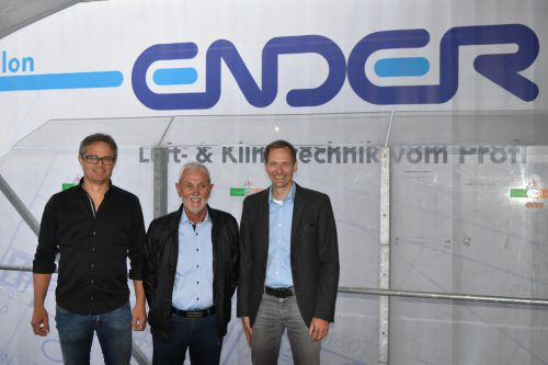 Kurt Ender (Mitte) mit Bernd Morscher (l.) und Martin Dünser.
