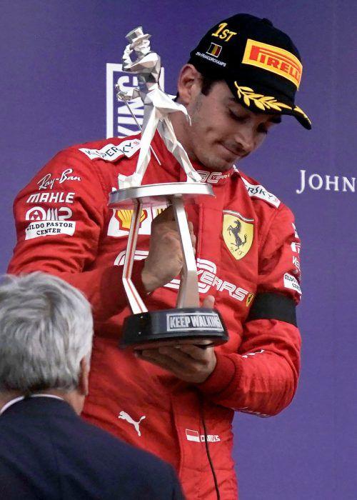 Leclerc ist Monacos erster GP-Sieger.Apa