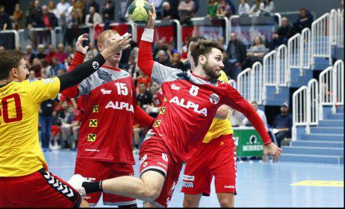 Manuel Schmid lieferte beim 32:30-Arbeitssieg gegen Graz eine bärenstarke Leistung ab und wurde zum Spieler des Abends gewählt. Alexandra Köss