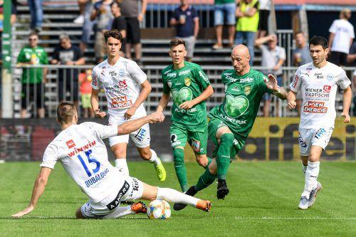 Die Lustenauer Austria um Routinier Matthias Morys will gegen den FAC den Achtelfinaleinzug klarmachen.gepa