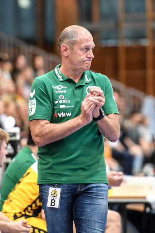 Meister Krems fügte den Bregenzer Handballern bei der Heimpremiere mit 25:32 die dritte Saisonniederlage zu.GEPA