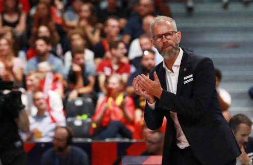 Michael Warm muss seine Mannschaft nach zwei Niederlagen wieder aufbauen.GEPA