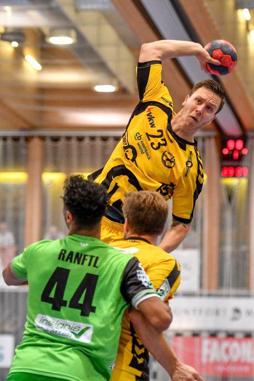 Bregenz-Scharfschütze Josip Juric-Grgic wurde 2016/17 mit Valur Reykjavik isländischer Meister und Cupsieger und erreichte im Challenge-Cup das Halbfinale. GEPA