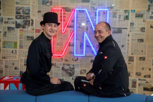 Niclas Flatz und sein Chef Richard Bilgeri sind stolz auf den Erfolg beim Bundeslehrlingswettbewerb der Rauchfangkehrer. VN/Paulitsch