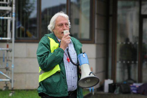 Norbert Loacker ist ein Mann der Tat. Bei Aktionen steht er regelmäßig ganz vorne.VN