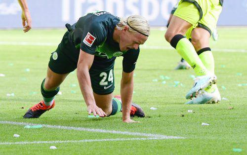 ÖFB-Mittelfeldspieler Xaver Schlager verletzte sich in der Bundesliga-Partie gegen den SC Paderborn am Knöchel.GEPA