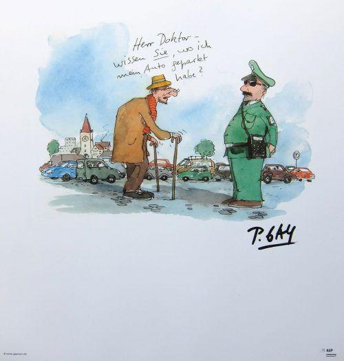 Peter Gaymann verpackt ein schweres Thema in humorvolle Bilder. peter gaymann