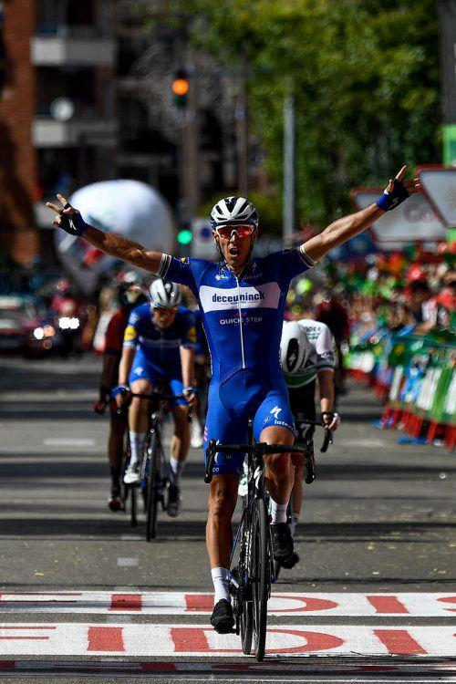 Philippe Gilbert jubelt über seinen zweiten Etappensieg bei der Vuelta.afp