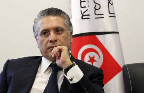 Präsidentschaftskandidat Nabil Karoui ist seit 23. August inhaftiert. afp