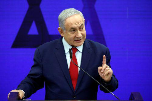 Premierminister Benjamin Netanjahu nennt Krieg in Gaza unvermeidlich.reuters