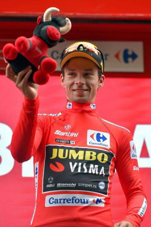 Primoz Roglic steht vor seinem ersten Gesamtsieg bei der Vuelta.afp