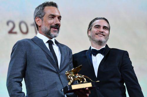 Regisseur Todd Phillips und Schauspieler Joaquin Phoenix hatten Grund zum Jubeln.