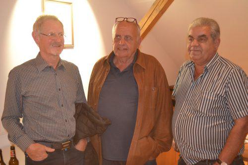 Reinhard Bertsch, Primus Huber und Thomas Gamon beim Vortrag in Nenzing. EM