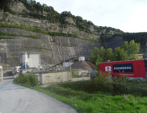Für und Wider Steinbruch Unterklien beim VN-Stammtisch am Mittwoch.FA