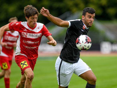 Ricardo Pineiro Dos Santos war der Matchwinner beim 2:1-Auswärtssieg von SW Bregenz über Röthis. Der Brasilianer traf nur wenige Sekunden nach seiner Einwechslung zum Ausgleich und erzielte auch den Siegtreffer zum 2:1.VN