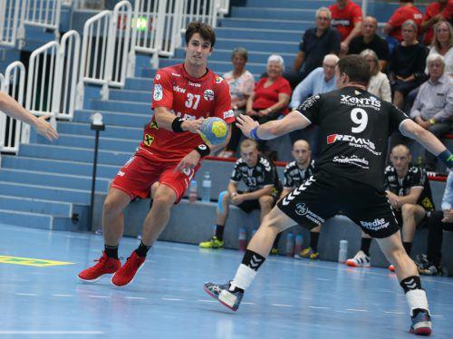 Rückraumspieler Ivan Horvat (l.) steuerte gegen Bärnbach zwei Treffer bei.VN/Hartinger