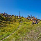 Gipfelmesse am Vandanser Kreuzjoch