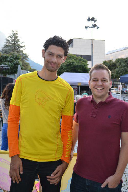 Sascha Harris und Christian Lampert genossen das Event.