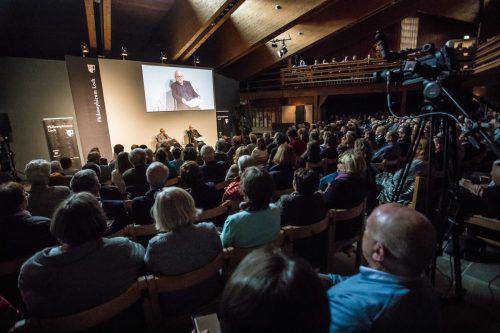 So informativ wie unterhaltsam: Philosophicum-Vorabend mit Michael Köhlmeier und Konrad Paul Liessmann am Mittwochabend in Lech. VN/Steurer