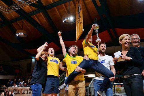 So sehen Sieger aus - das Team Australien (TC Lustenau) sicherte sich 2019 den Ping-Pong-Titel.