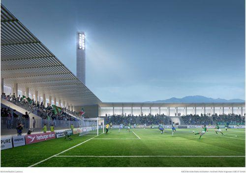 So soll die Erweiterung des Planet Pure Stadions einmal aussehen.Bader/Austria