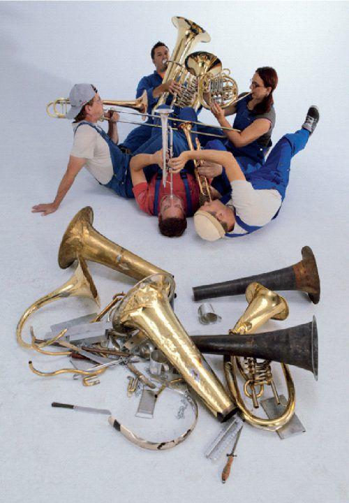 """Sonus Brass präsentiert sein erfolgreichstes Konzertformat """"Die Blecharbeiter""""."""