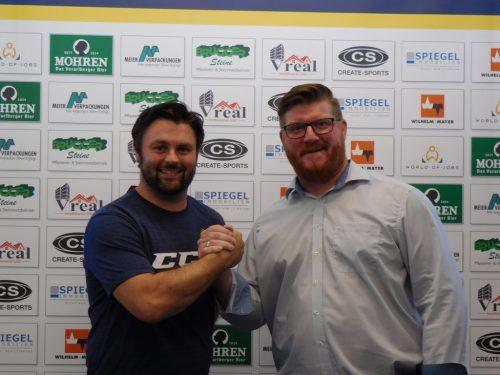 Thomas Auer und HSC-Coach Heimo Lindner.mima