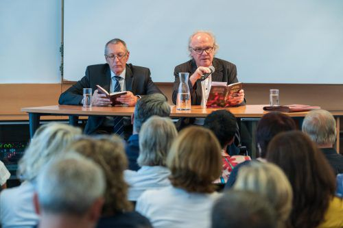 Über 100 Besucher folgten bei Russmedia den Ausführungen von Konrad Paul Liessmann und Michael Köhlmeier. VN/Stiplovsek