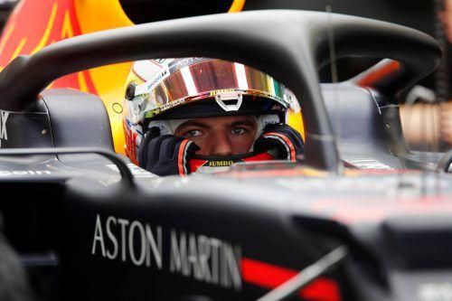 Überlegen in der zweiten Trainingssession: Max Verstappen im Red Bull. reuters