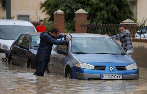 Vielerorts kam es zu massiven Überschwemmungen. Reuters