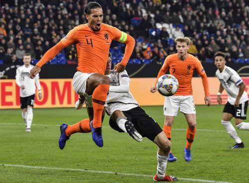 Virgil van Dijk gilt als das Bollwerk bei der holländischen Nationalmannschaft.Ap