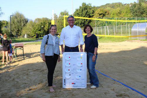 Vize-Bgm. Gudrun Petz-Bechter, Bgm. Wolfgang Matt und OV Gabriele Graf.