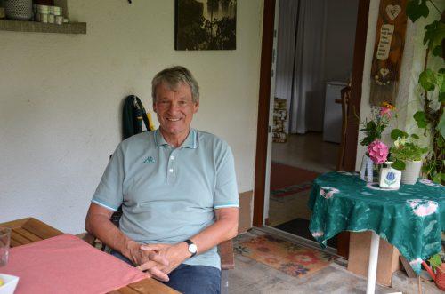 Walter Gmeiner hat sich in Dornbirn ein kleines Paradies eingerichtet. VN/HJR