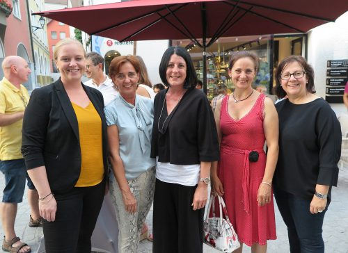 Wiebke Meyer, Adriane Vonbank, Claudia Heim, Andrea Rückner und Verena Walch.