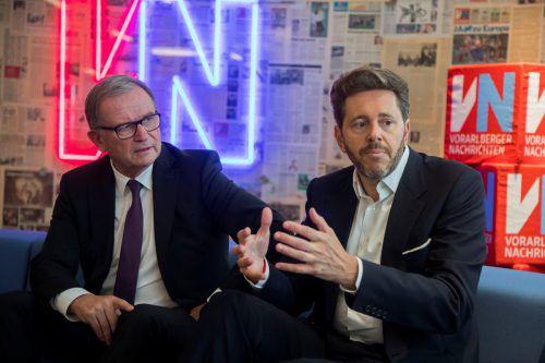 Wirtschaftskammergeneralsekretär Karlheinz Kopf und Präsident Harald Mahrer. VN/Paulitsch