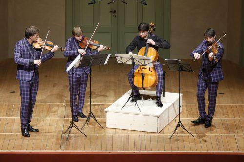 Apollon-Musagète-Quartett im Markus-Sittikus-Saal in Hohenems. Schubertiade