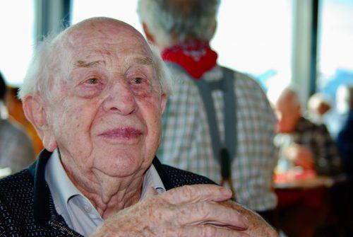 Auf 100 ereignisreiche Jahre blickt Josef Marte zurück. lässer