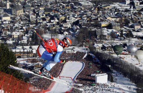 Auf der legendären Streif holte sich Didier Cuche den ersten von insgesamt 21 Weltcupsiegen. Reuters