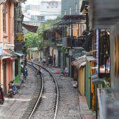 Berühmte Train Street in Hanoi wird für Touristen gesperrt