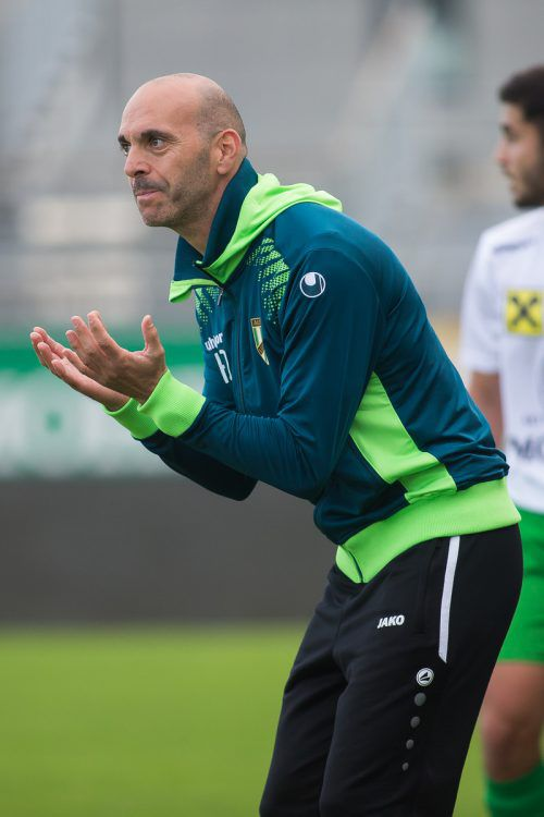 Austria-Trainer Harald Dürr hofft auf Punktezuwachs gegen Röthis.VN/Steurer