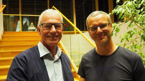 Bgm. Gottfried Brändle mit seinem neuen Vize Kuno Sandholzer. egle