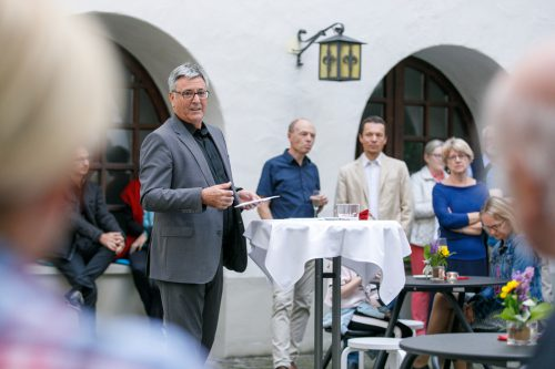 Bürgermeister Wolfgang Matt begrüßte Wegbegleiter und Führungsteilnehmer bei der Finissage im Palais Liechtenstein.Hofmeister