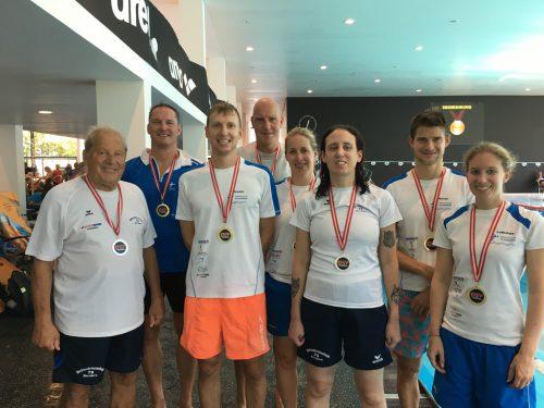 Der Schwimmclub TS Dornbirn hatte wieder allen Grund zum Jubeln und sicherte sich wieder zahlreiche Medaillen.cth