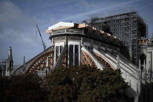 Der Wiederaufbau der Kathedrale wirft noch viele Fragen auf. AFP