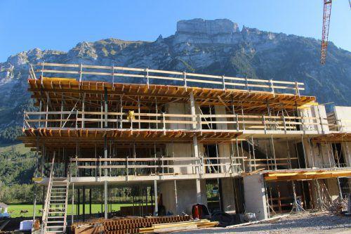 Die Anlage in Schnepfau-Hirschau macht große Fortschritte.