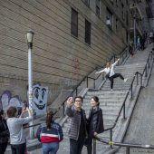 Joker-Treppe als Fotomotiv beliebt